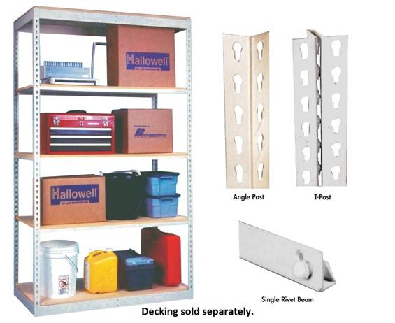 HALLOWELL RIVETWELL™ SHELVING WITH SINGLE RIVET BEAM