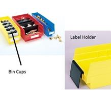 EXTENDED LABEL HOLDERS & BIN CUPS